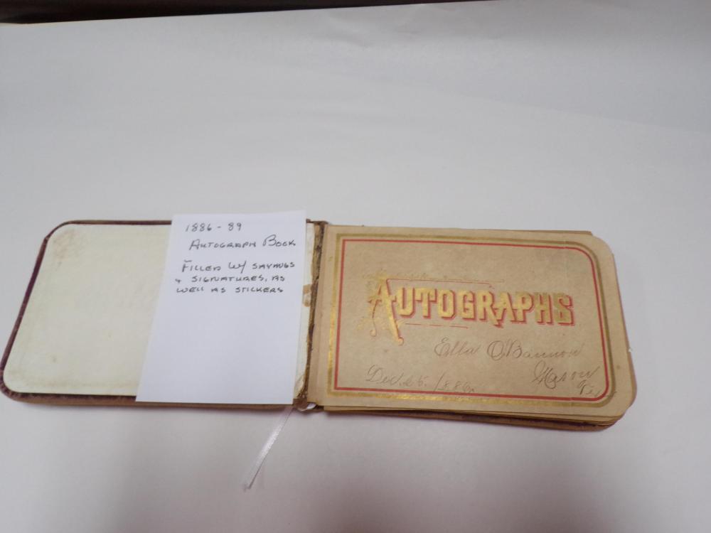Antique Worn Velvet Autograph Book