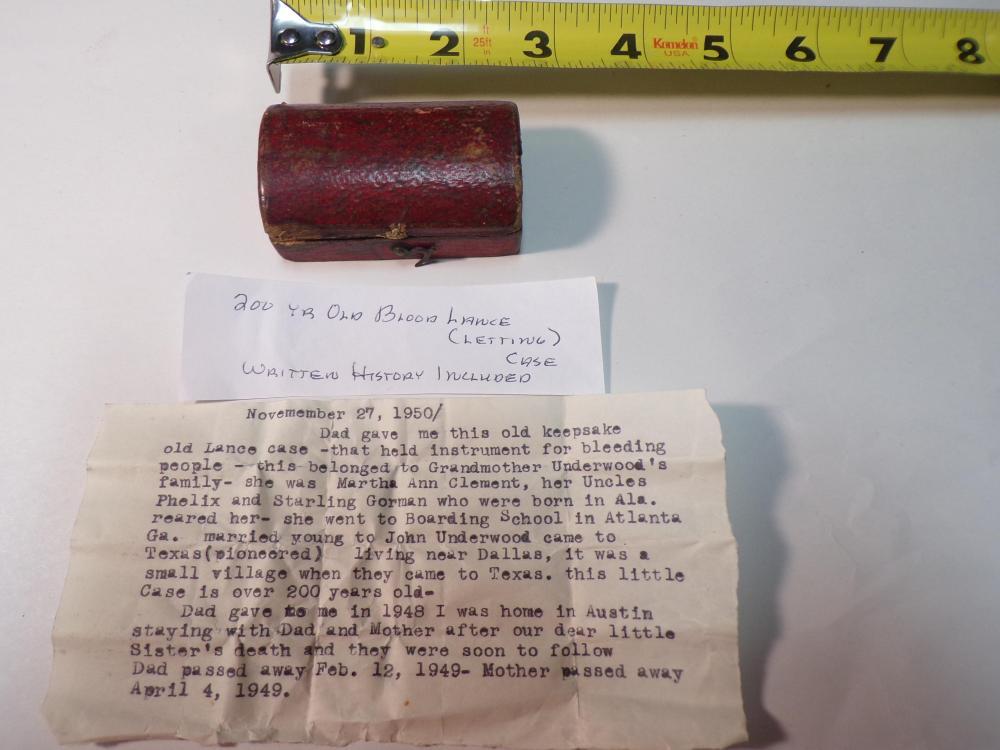 Antique Blood Letting Lance Case