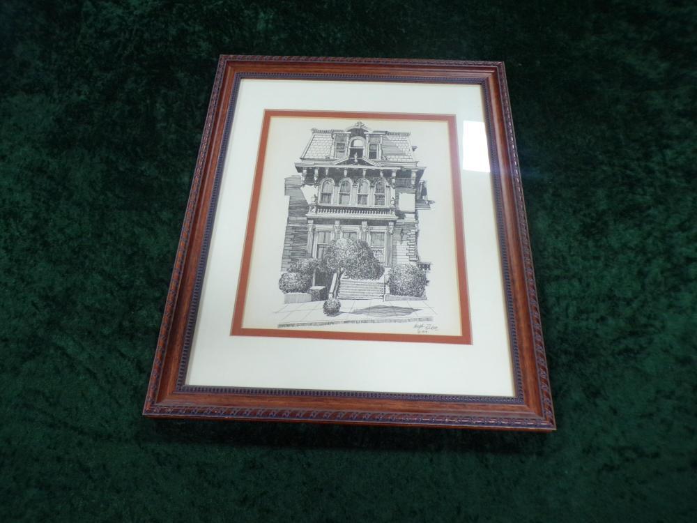 Framed Victorian House Print