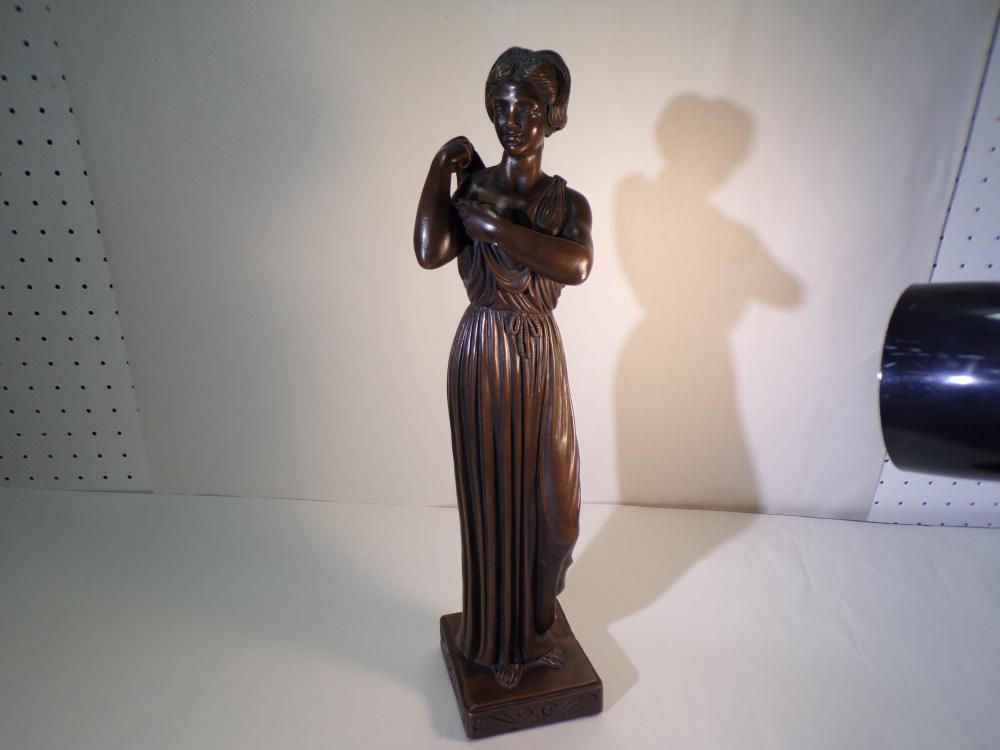 Bronze Colored Plaster Statue