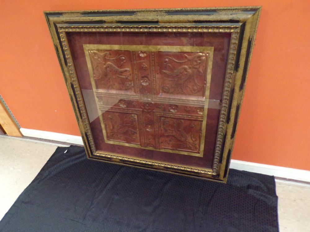 Framed Copper Ceiling Tin
