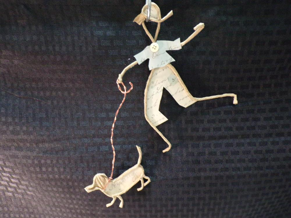 Hand Made Paper Wire Figures with Antique Prescription Clothing