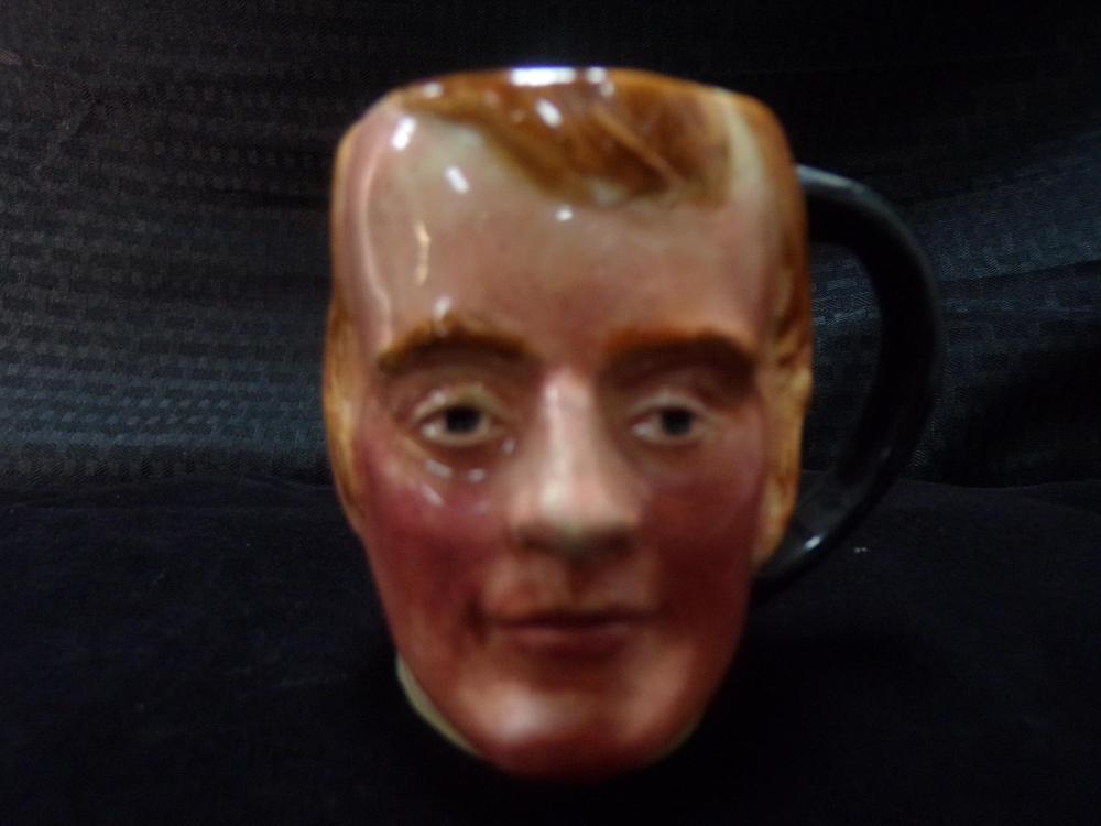 Hand Painted English Toby Style Mug