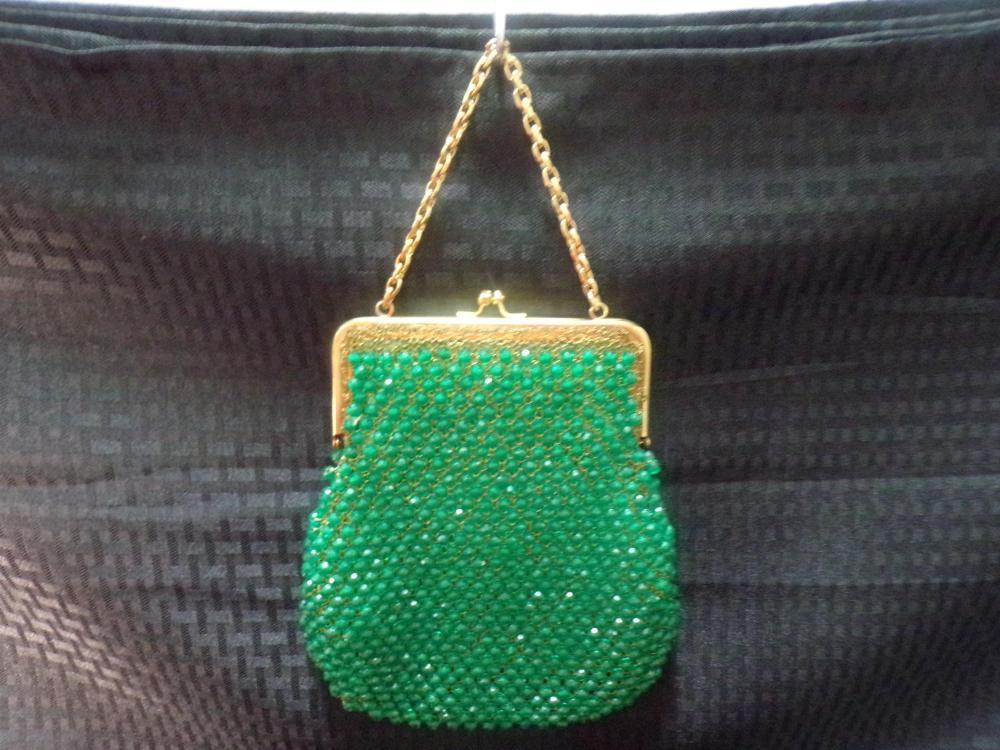 Vintage Italian Green Rhinestone Purse