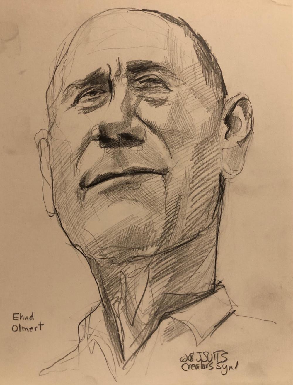 Ehud Olmert caricature