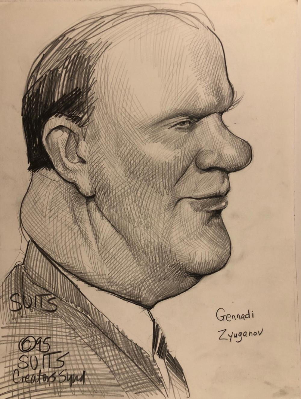 Grennadi Zyuganov caricature