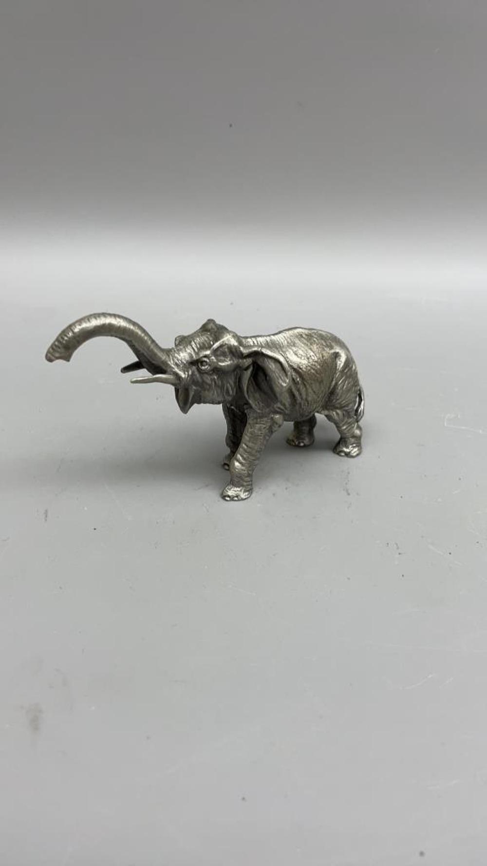 Hudson Antique bronze elephant Sculpture