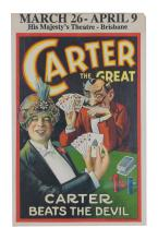 CARTER THE GREAT MAGICIAN WINDOW CARD
