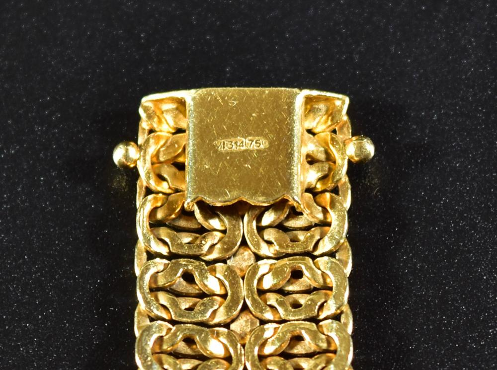 18K GOLD LADIES FIGURE 8 LINK BRACELET