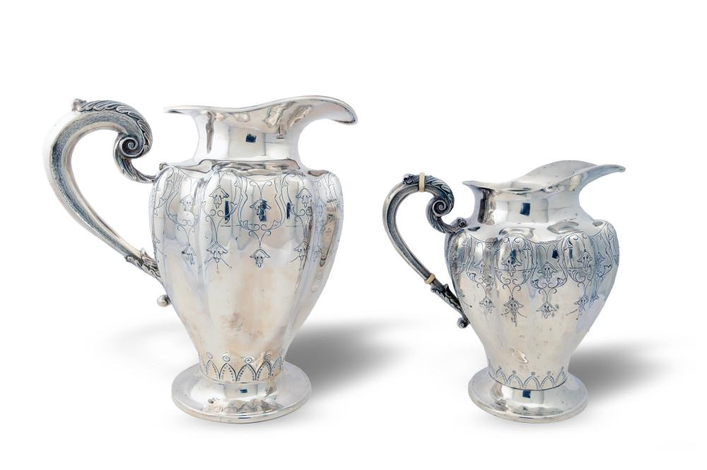 2 STERLING SILVER PITCHERS, SANBORNS, MEXICO CITY