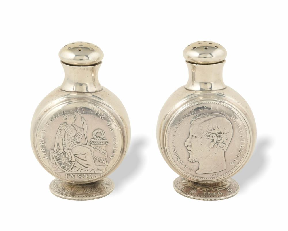 PAIR 19TH CENTURY GEORGE C. SHREVE AND CO. STERLING S AND P