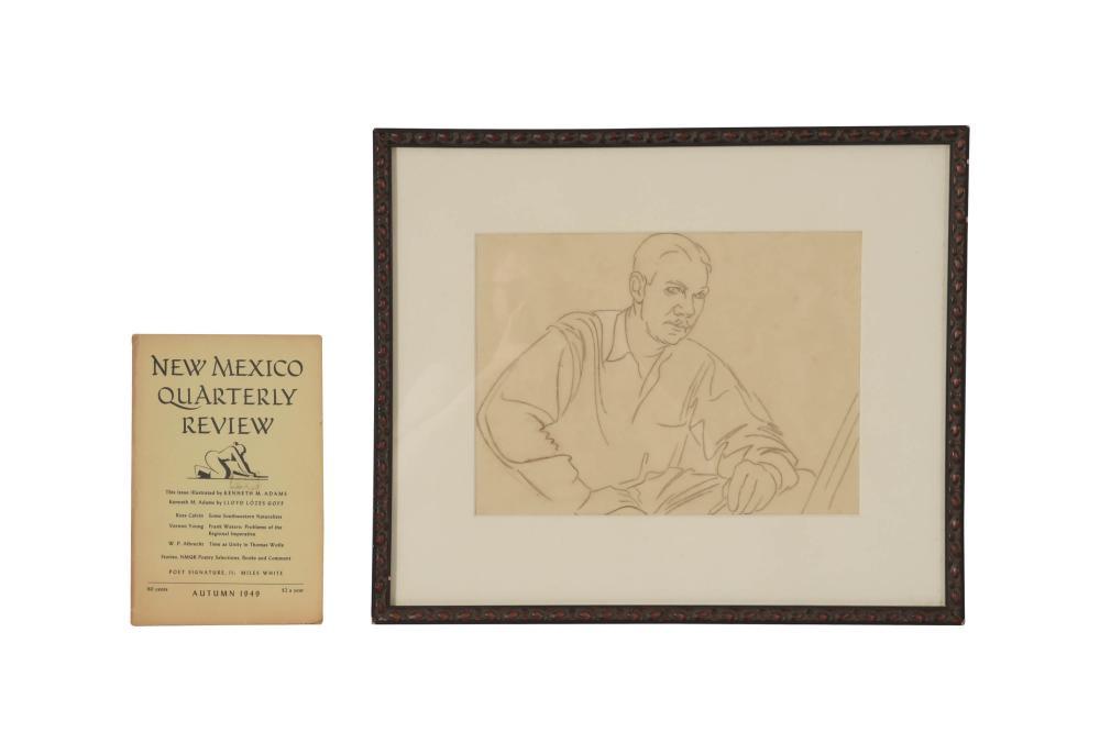 1949 KENNETH ADAMS DRAWING FOR NM QUARTERLY
