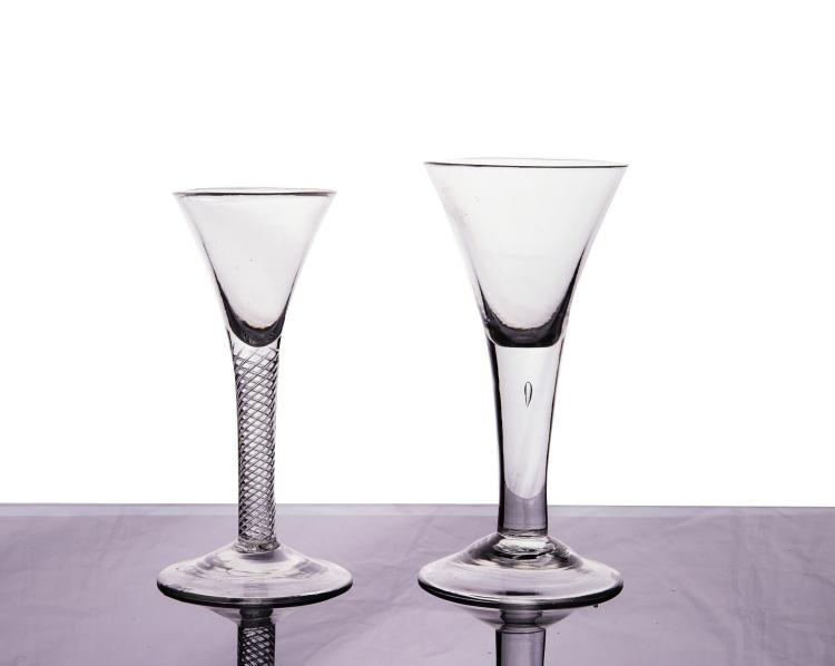 Two Hand Blown Glasses 18th Century