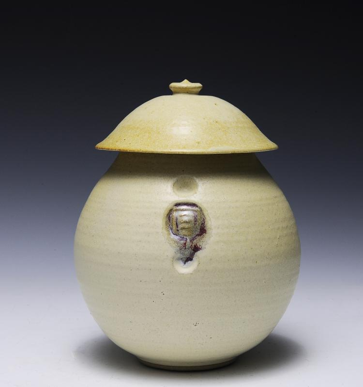 Lidded Ceramic Pot, Korea