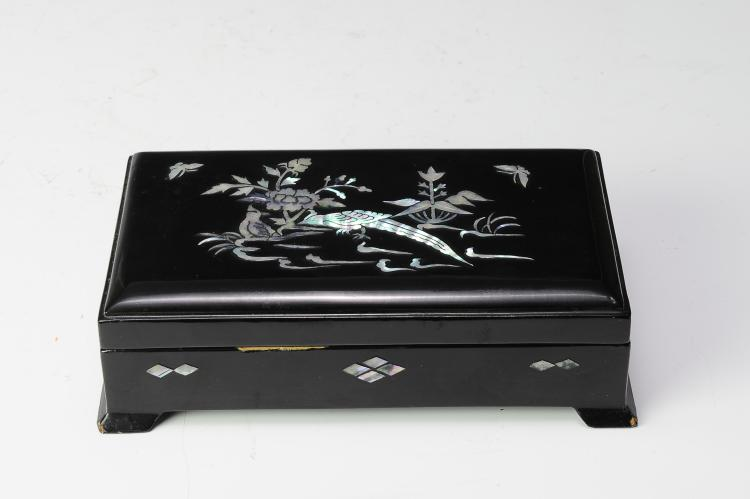 Mother of Pearl Inlay & Lacquer Box