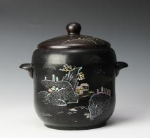 Mother of Pearl Inlaid Pot, Korean