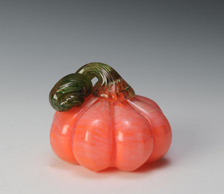 Hand-blown Glass Pumpkin