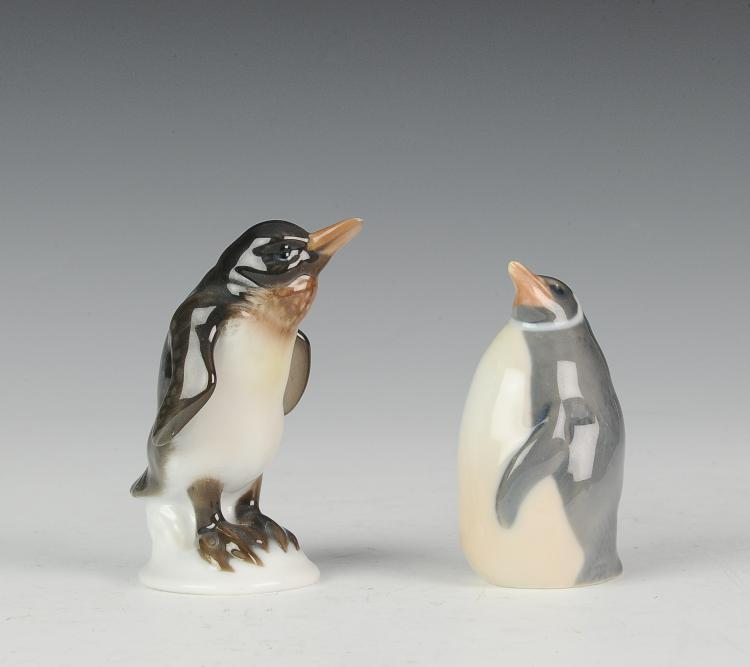 Royal Copenhagen and Rosenthal Penguin Figurines