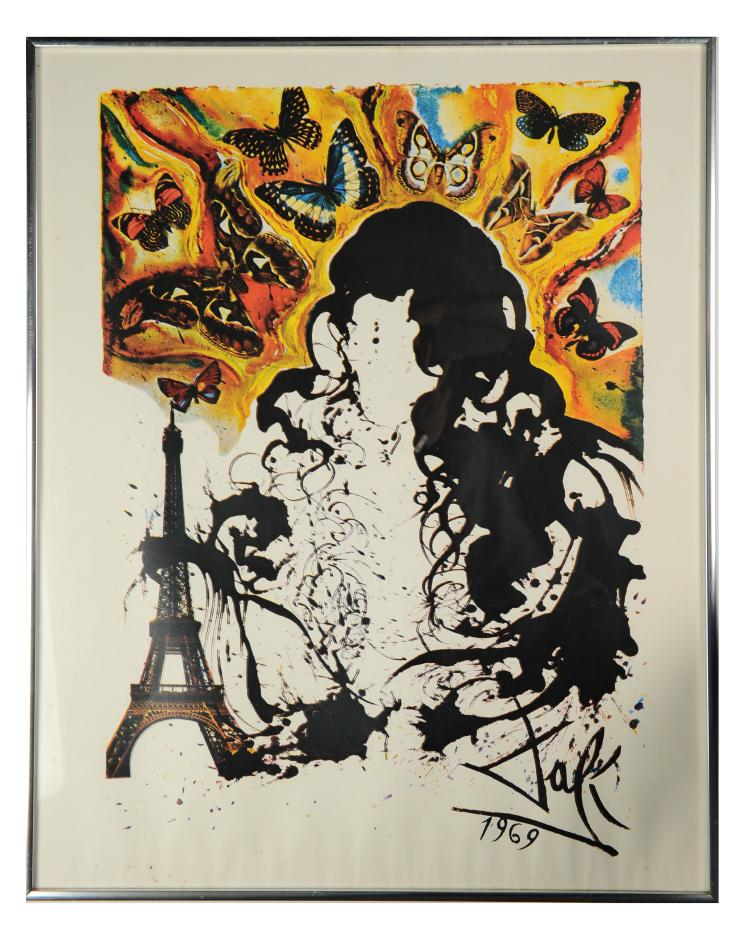 1969 Paris Print, Salvador Dali