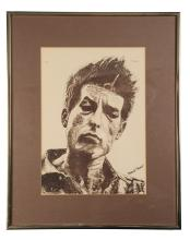Limited Edition Lithograph of Bob Dylan, Probst