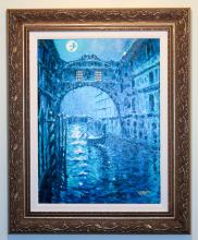 Blue Moon Over Venice, Giclee on Canvas