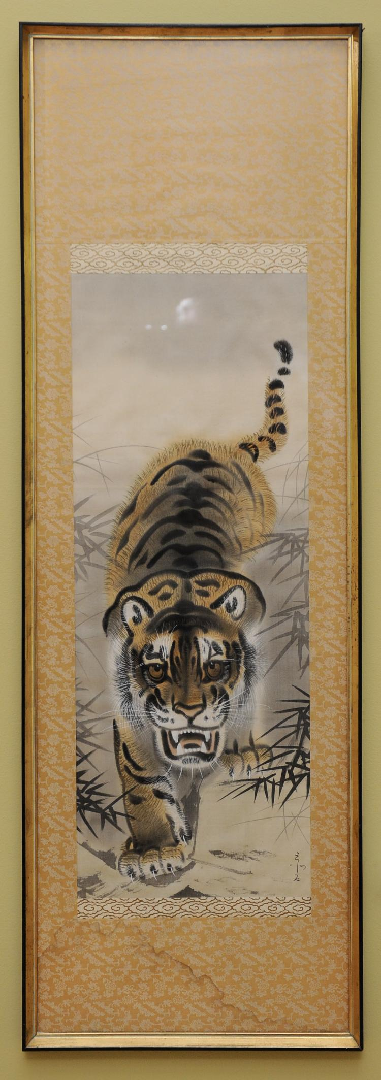 Tiger Painting on Silk, Korea