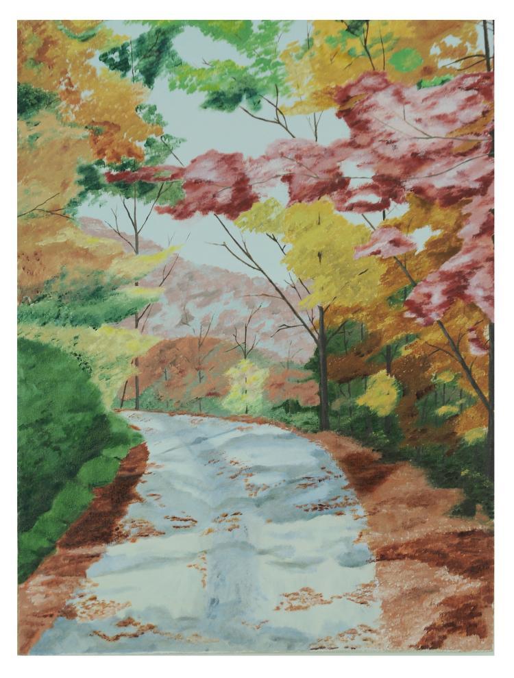 Fall Landscape Oil on Canvas, Mir Ali