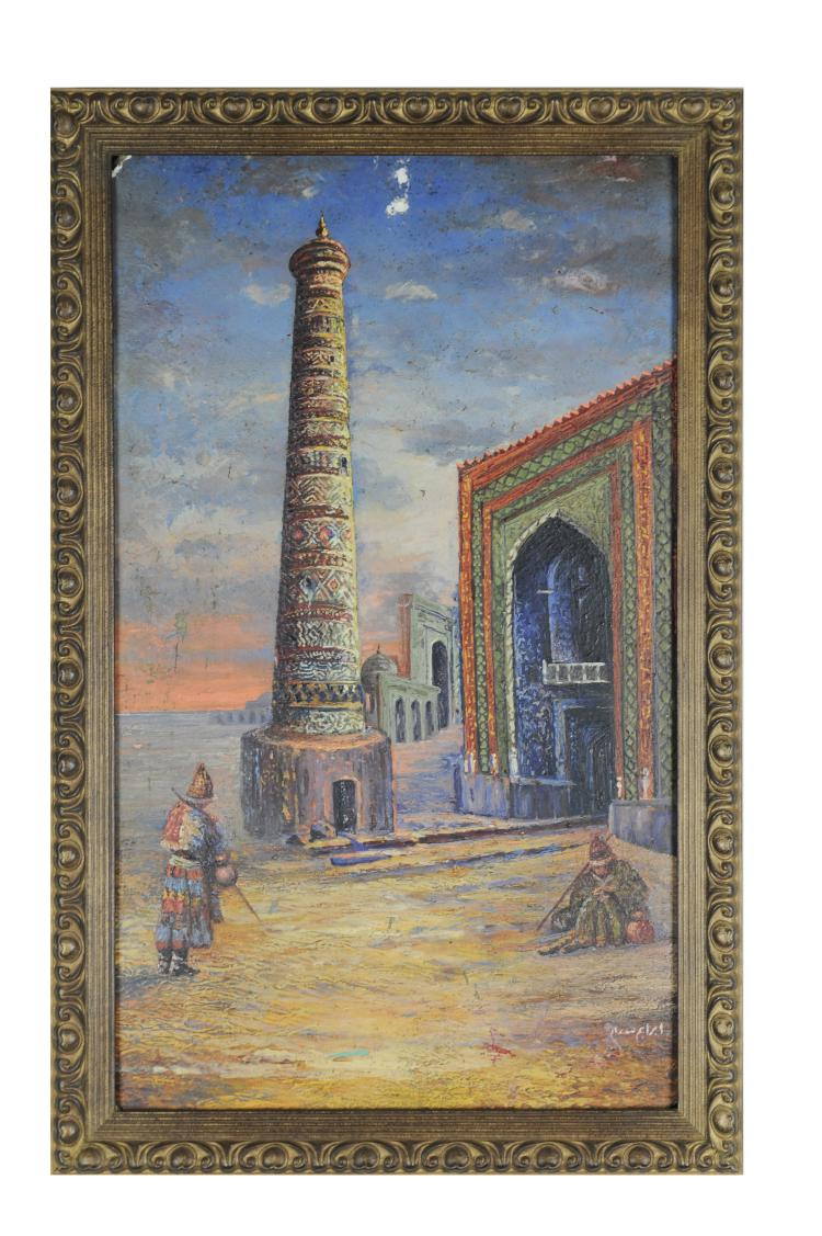 Painting of an Iranian Mosque, Ibraheem Naseem