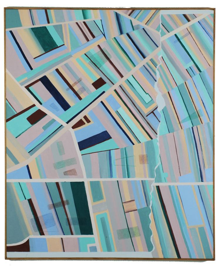 Linear Abstract, Oil on Canvas, Mary Howard