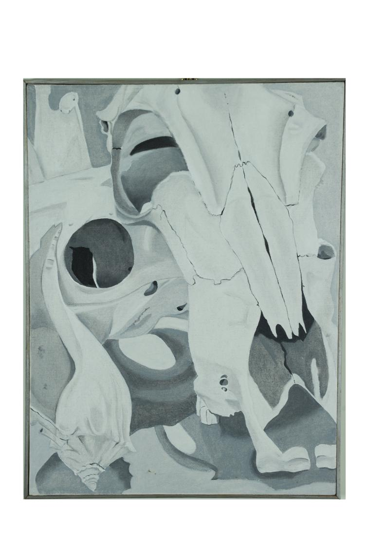 Grayscale Skull and Shell, Mary Howard