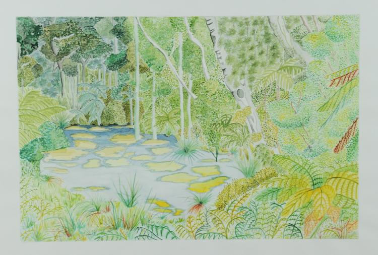 Watercolor of a Jungle, Mary Howard