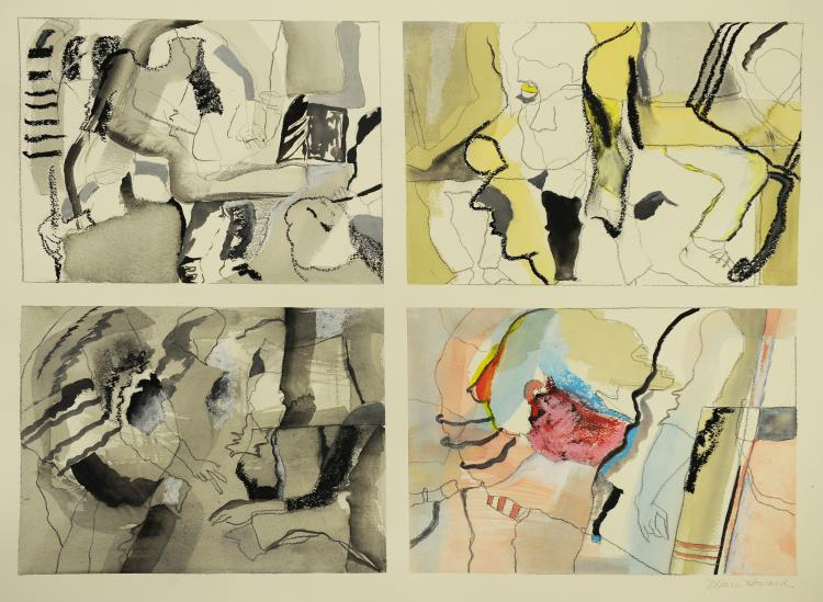 Four Panel Abstract, Mary Howard