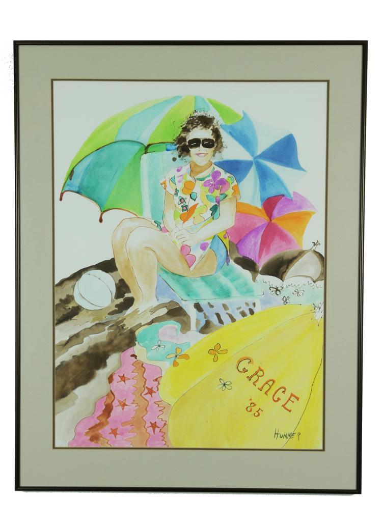 Grace '85 Watercolor, Hummer