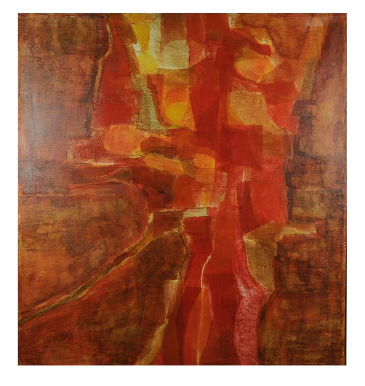 Orange Abstract, Ann Benson