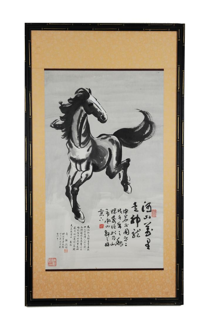 Horse Painting, in the Style of Xu Beihong