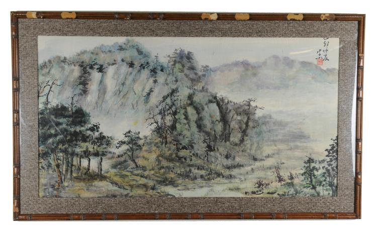 Chinese Watercolor Landscape