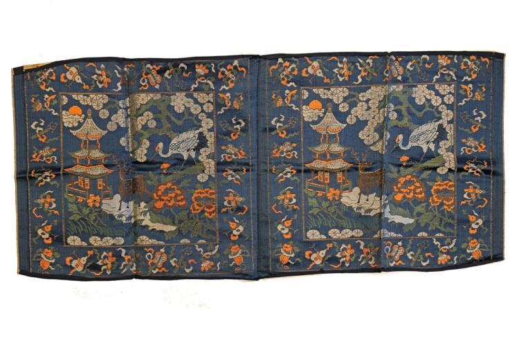 Silk Embroidered Panel, 19th Century