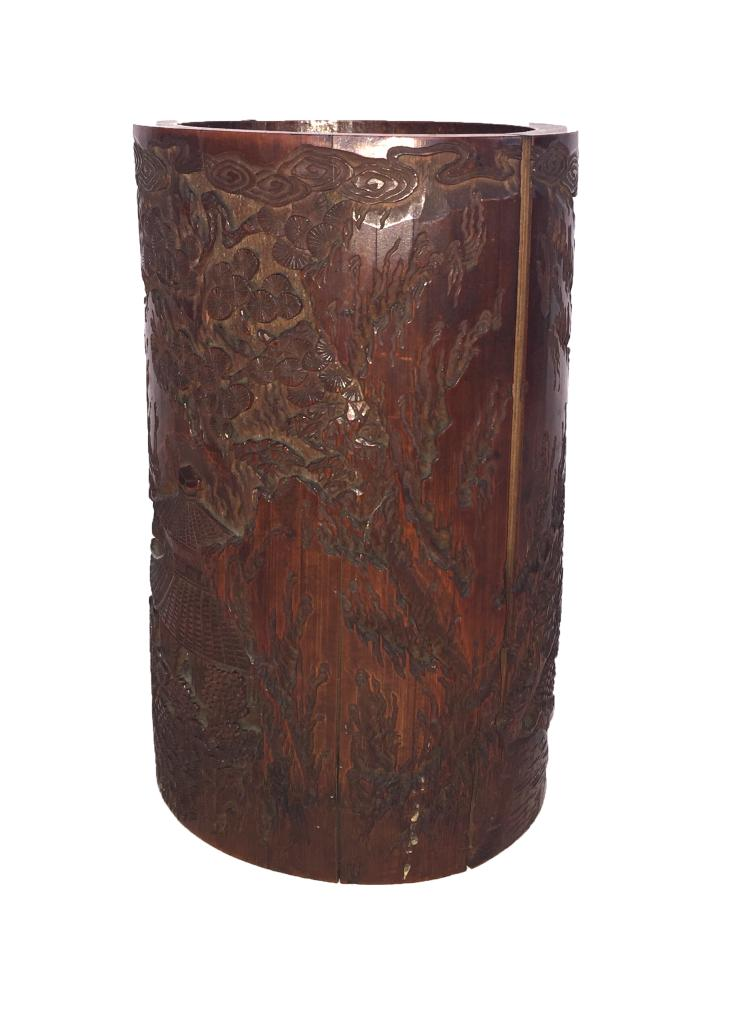 Decorative Bamboo Brush Pot