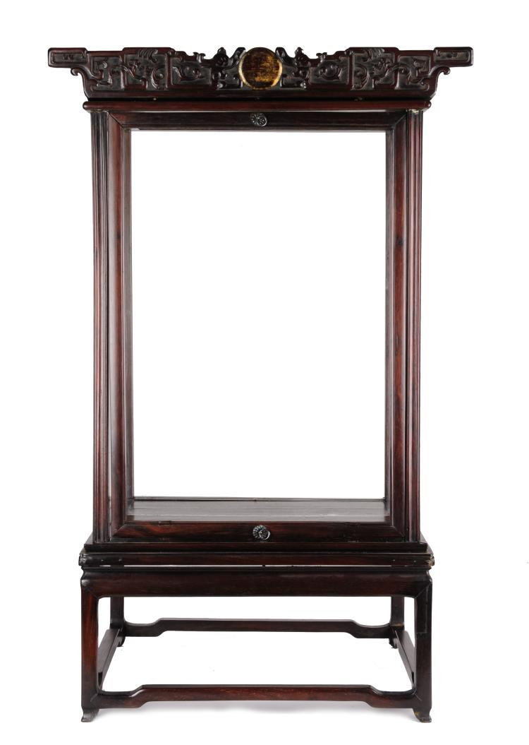 A Rosewood Display, Late 19th Century