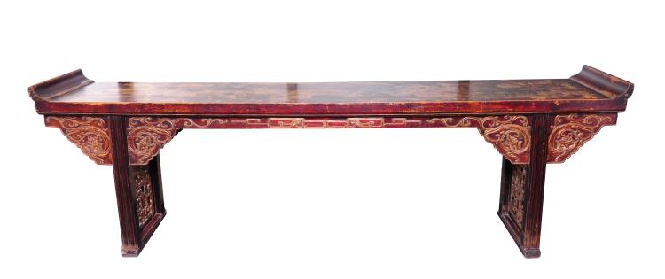 Long Wooden Altar Table, 17th Century