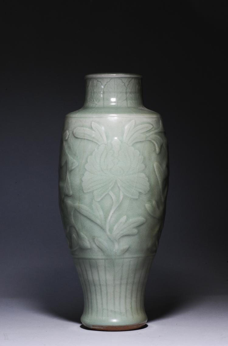 Longquan Celadon Vase, Ming Dynasty