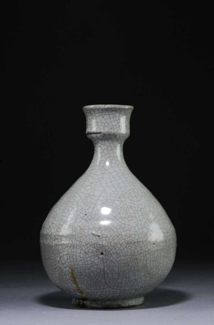 A Guan Glazed Vase, Ming Dynasty or Earlier