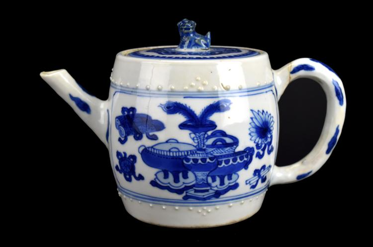Blue & White Teapot, Kangxi Period