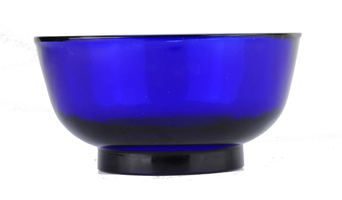 A Blue Peking Glass Bowl, Late 19th Century