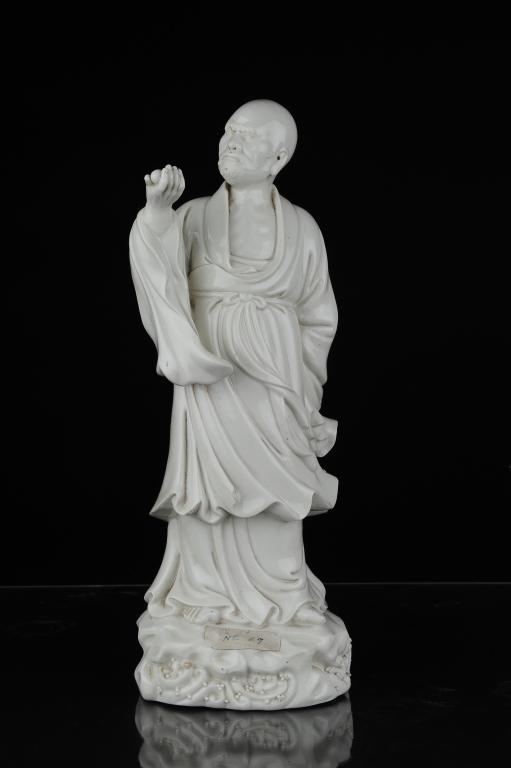 Blanc de Chine Lohan Figure, Qing - Republic