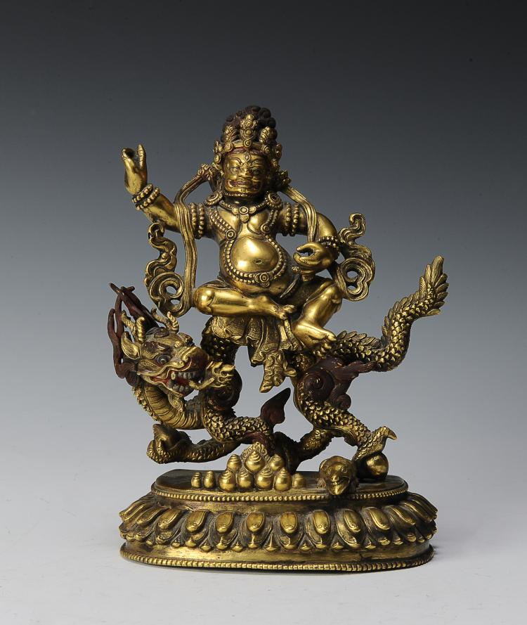 Chinese Golden Treasure God, 19th - 20th Century