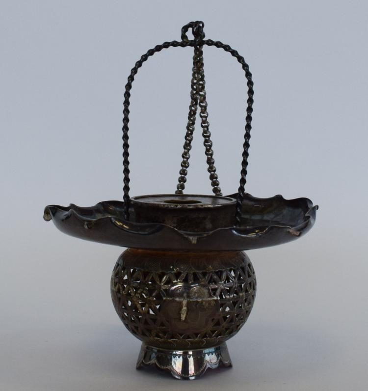 Silver Incense Burner 19th - 20th Century