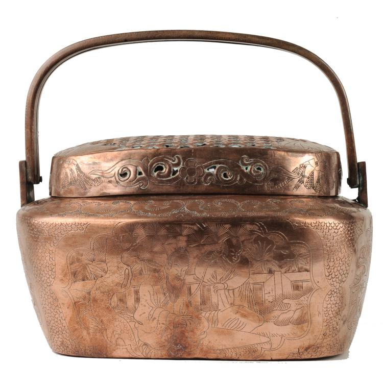 Copper Hand Warmer, 19th Century