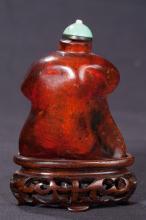 Amber Snuff Bottle, 19th Century