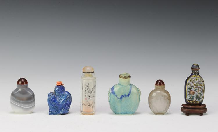Group of 6 Snuff Bottles